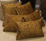 Sierkussen koehuid met luipaardprint kl_
