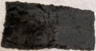 Konijnenbont zwart