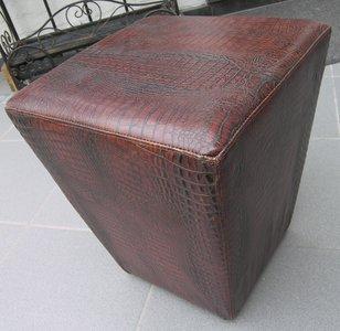 Poef Piramide Leder Croco